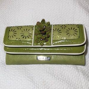 Nicole Lee green floral wallet. NWOT